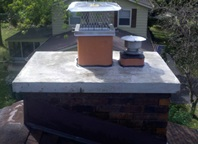 Concrete Cap Installation for Chimneys